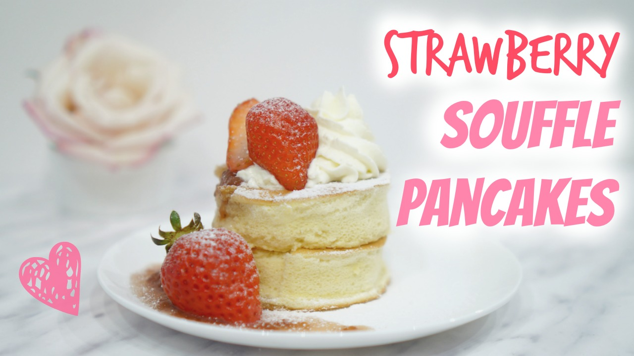 Strawberry souffl pancakes peachy bunny mel strawberyy souffle pancake thumbnail ccuart Gallery