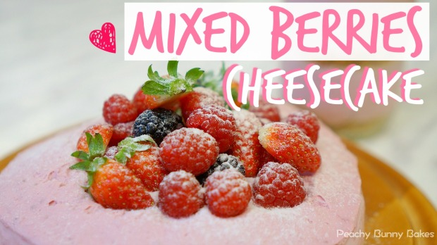 mixed-berries-heart-cheesecake