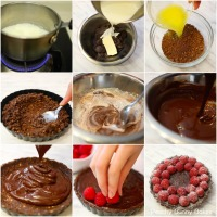 4-Ingredient Raspberry Truffle Tart